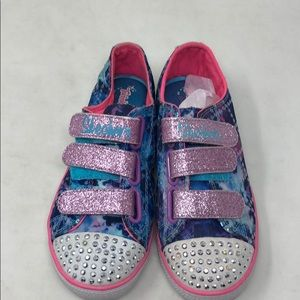 Girls Skechers Twinkle Toes Chit Chat 12 b5box4